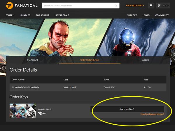 How do I activate my keyless Ubisoft purchase? – Fanatical com
